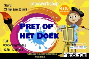 Start workshop Pret op het doek
