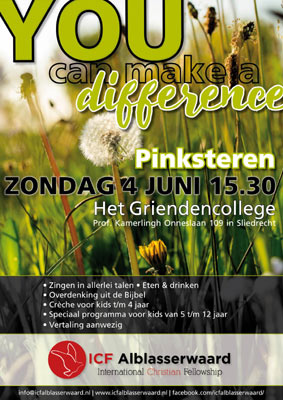 Viering ICF Alblasserwaard - YOU can make a Difference