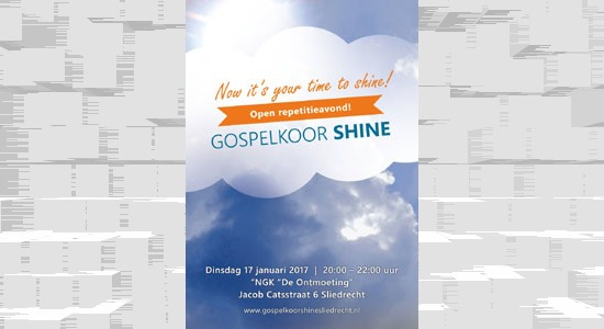 Open repetitieavond Gospelkoor Shine