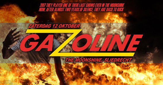 Rock coverband Gazoline in The Moonshine