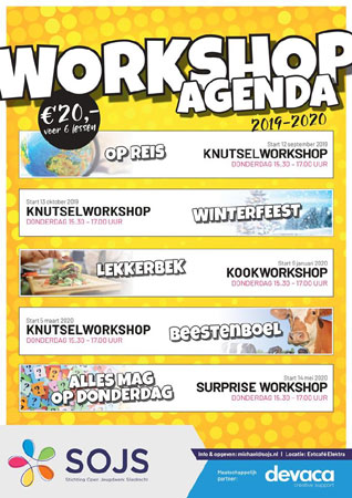Start Knutselworkshop 'Winterfeest' (6-12 jaar)